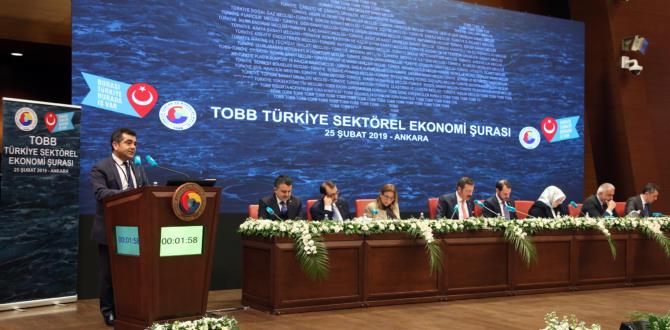 TOBB Türkiye Sektörel Ekonomi Şurası, 7 bakanın katılımıyla gerçekleştirildi