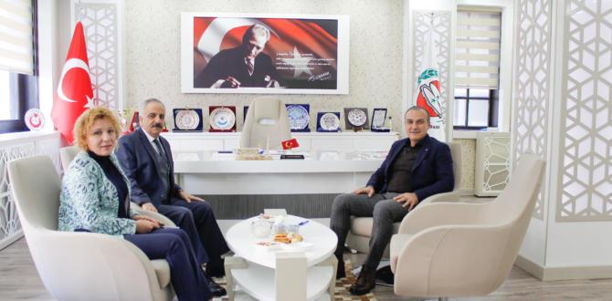 Amasya Defterdarı Kurşun, Başkan Kırlangıç'ı ziyaret etti