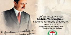 Muhsin Yazıcıoğlu'nu 11. yılında rahmetle anıyorum.