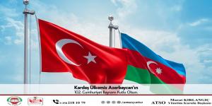 Azerbaycan'ın 102'nci kuruluş yıl dönümünü kutluyorum