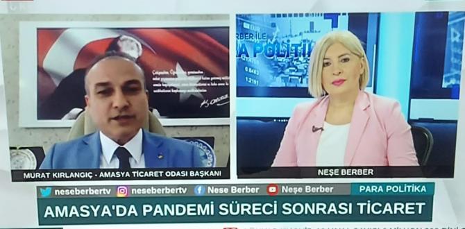 AMASYA TSO BAŞKANI MURAT KIRLANGIÇ BENGÜTÜRK TV'YE CANLI TELEFON BAĞLANTISI İLE KATILDI