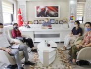 Amasya Valiliği Dış İlişkiler ve Avrupa Birliği Koordinasyon Merkezi Proje Ekibi Başkan Kırlangıç'ı Ziyaret Etti