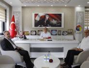 Vakıfbank Amasya Şubesi Müdürü Başkan Kırlangıç'ı Ziyaret Etti