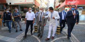 ATSO BAŞKANI KIRLANGIÇ KOVİD-19 DENETİMLERİNE KATILDI