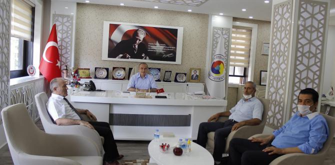 Amasya PTT Baş Müdürü Amasya TSO'yu Ziyaret Etti