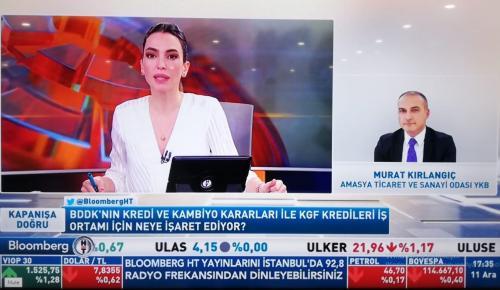 BAŞKAN KIRLANGIÇ BLOOMBERGHT TV YAYININA KATILDI