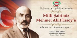 Mehmet Akif Ersoy'un, vefatının 84. yıldönümü