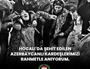 Tarihe kara bir leke olarak geçen Hocalı Katliamı'nın 29. yıldönümünde şehit edilen tüm Azerbaycanlı kardeşlerimizi rahmetle anıyorum.