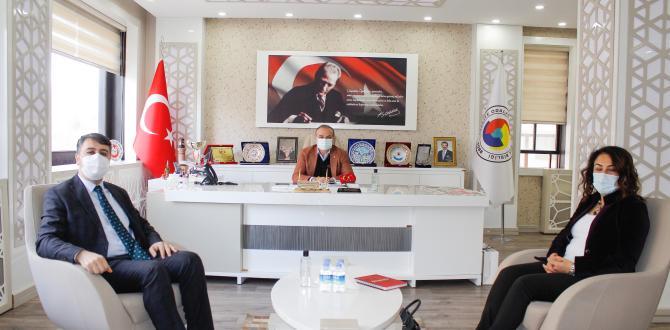 ATSO BAŞKANI KIRLANGIÇ ZİRAAT BANKASI YÖNETİCİLERİNİ KABUL ETTİ