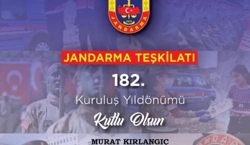 Jandarma Teşkilatı'nın 182. kuruluş yıl dönümü