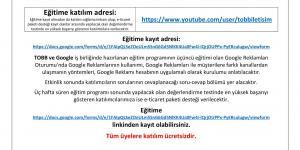 Küçük İşletmeler İçin Google Eğitim Programı: Google Reklamları Oturumu