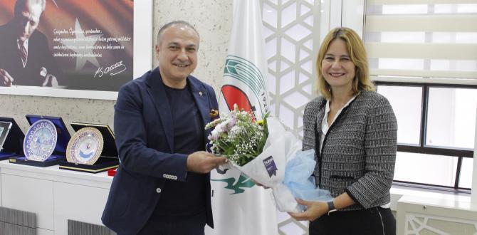 DEVA Partisi Genel Başkan Yardımcısı Sanem Oktar'dan ATSO Başkanı Murat Kırlangıç'a Ziyaret