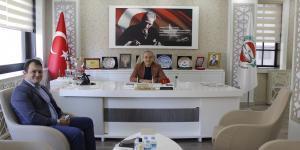 ODAMIZ ÜYESİ ALPER SERHAT ZEYTÜNLÜ'DEN BAŞKAN KIRLANGIÇ'A ZİYARET